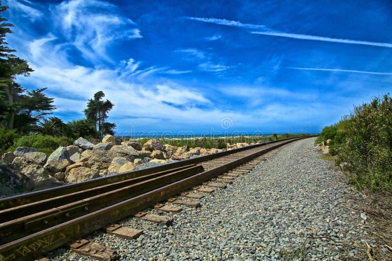 Voies ferrées Ventura California photo libre de droits