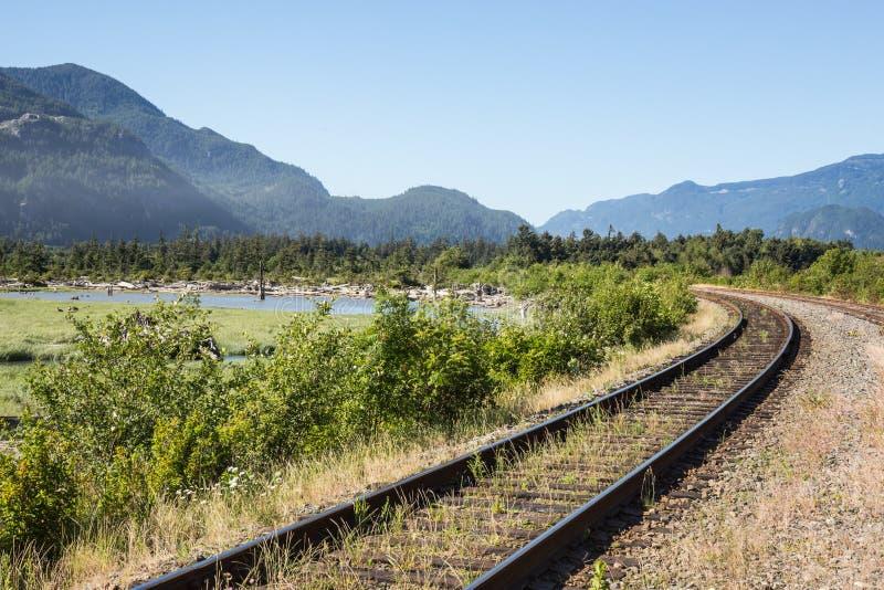 Voies ferroviaires photos libres de droits