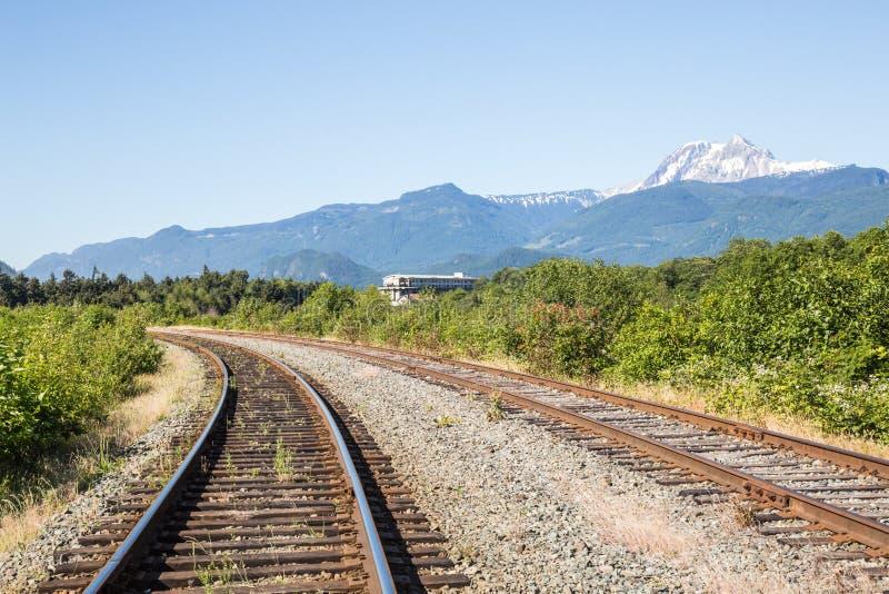 Voies ferroviaires image libre de droits