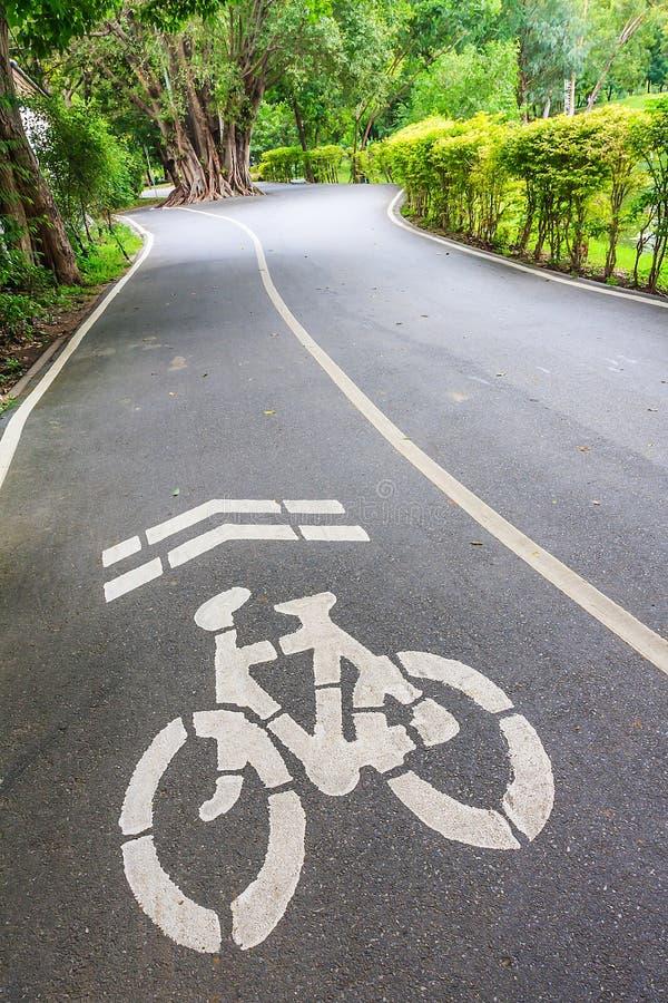 Voies pour bicyclettes en parc, Bangkok photo stock