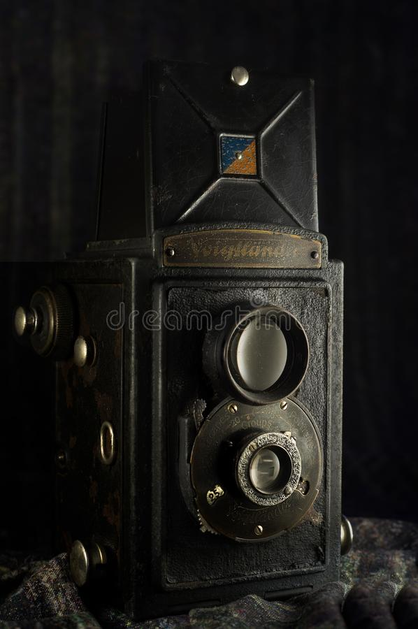 Voigtländer布里扬1949年葡萄酒相机盒卡尔扬Nrat MumbaiMaharashtr 免版税库存图片