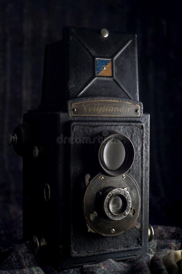 Voigtländer布里扬1949年葡萄酒相机盒卡尔扬Nrat MumbaiMaharashtr 免版税库存照片