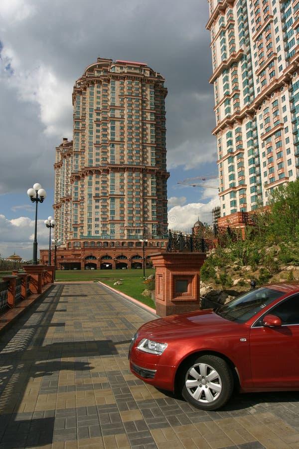 Voiles complexes résidentielles d'écarlate, Moscou image libre de droits