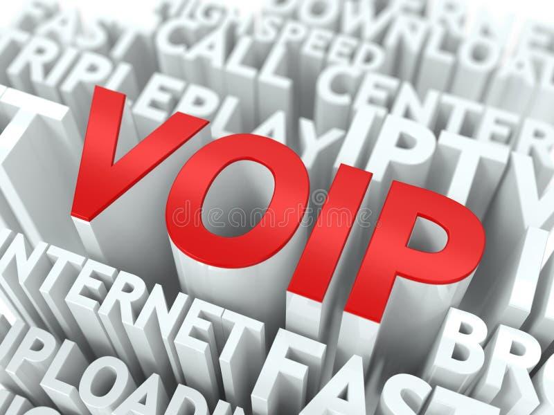 VOIP. Принципиальная схема Wordcloud. иллюстрация штока