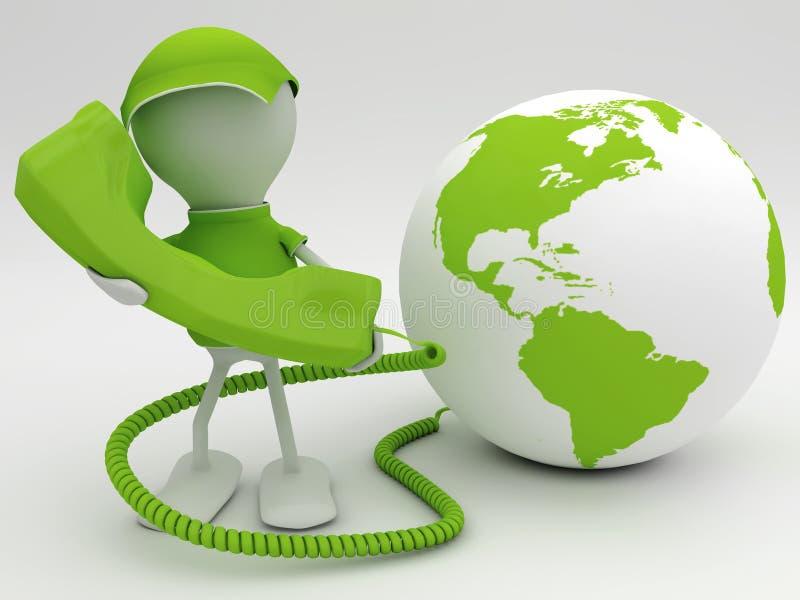 VoIP concept. Voice over internet protocol concept. 3d rendered illustration vector illustration
