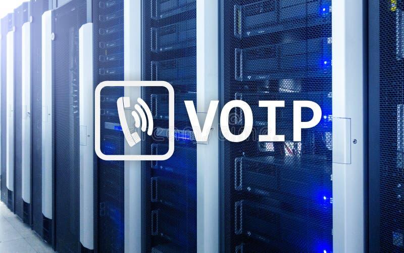 VOIP, Stem over Internet-protocol, technologie die voor toespraakmededeling via Internet het mogelijk maakt De achtergrond van de royalty-vrije stock foto's