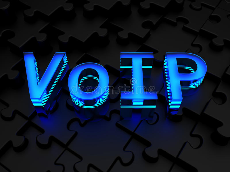 VoIP (voz sobre protocolo IP) fotografía de archivo