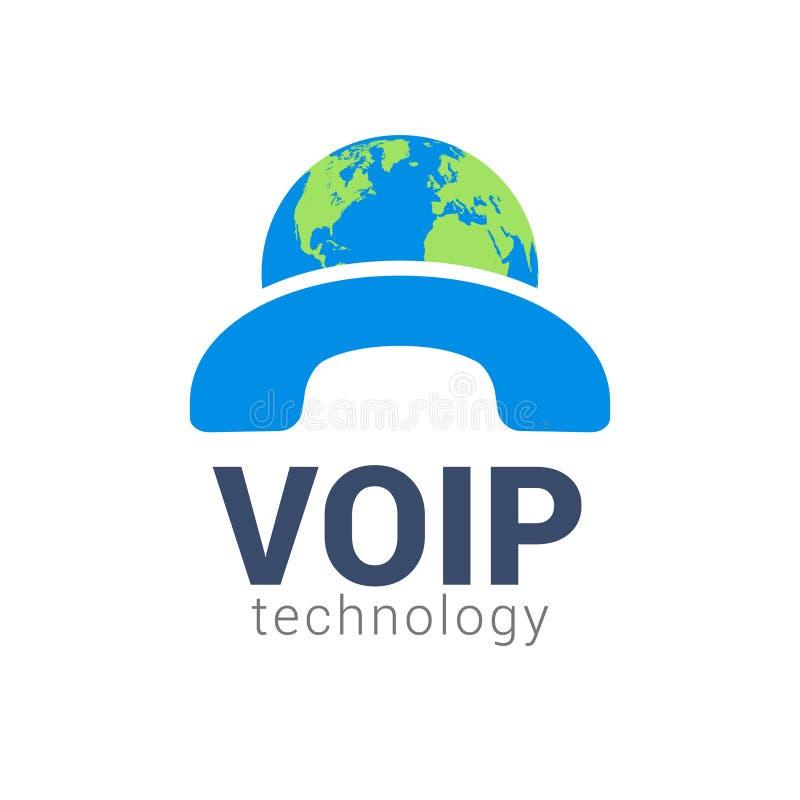 Voip wektoru ikona Interneta pojęcia wywoławczy związek Głos nad siecią, voip znak royalty ilustracja