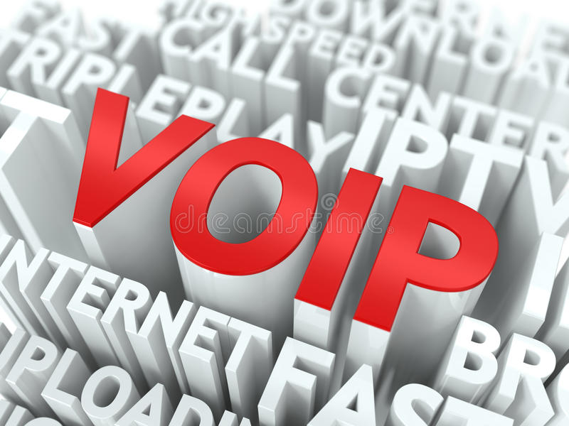 VOIP. The Wordcloud Concept. stock illustration
