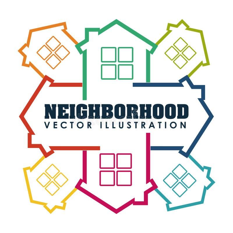 voisinage illustration libre de droits