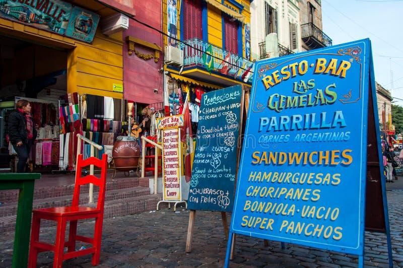 Voisinage coloré de Boca de La, Buenos Aires, Argentine photo stock