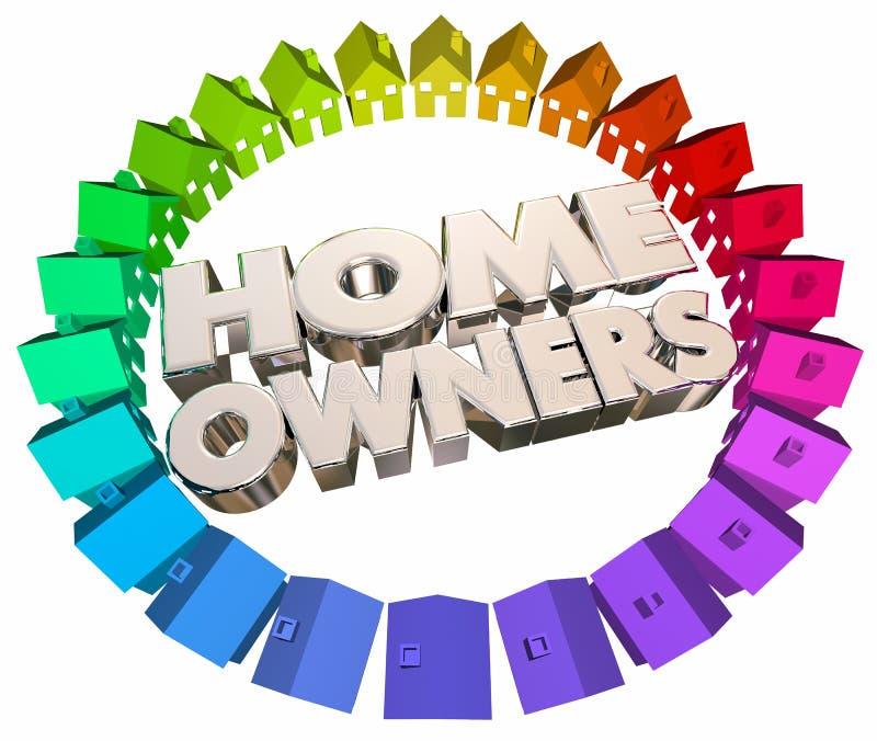 Voisinage d'association de Chambres d'acheteurs de propriétaires illustration libre de droits