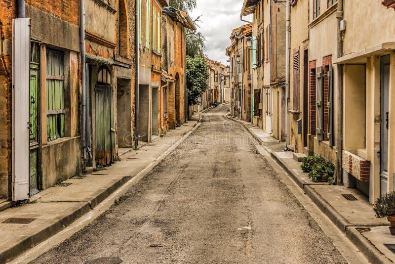 Voisinage dans le village de Ybars de saint Middi Pyrénées France photo stock