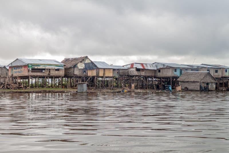Voisinage de Belen d'Iquitos photographie stock