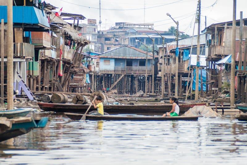 Voisinage de Belen d'Iquitos image stock