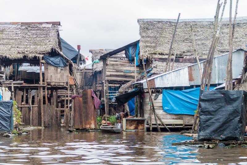 Voisinage de Belen d'Iquitos images stock