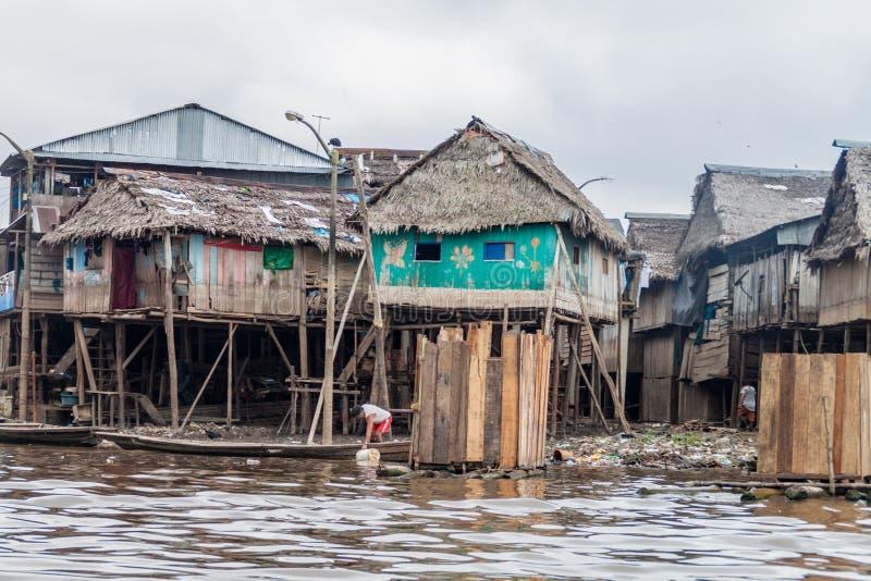 Voisinage de Belen d'Iquitos photos stock