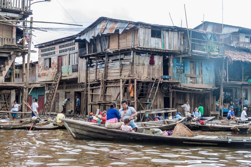 Voisinage de Belen d'Iquitos photo stock