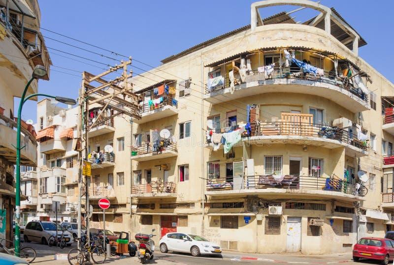 Voisinage de Florentin, Tel Aviv image stock