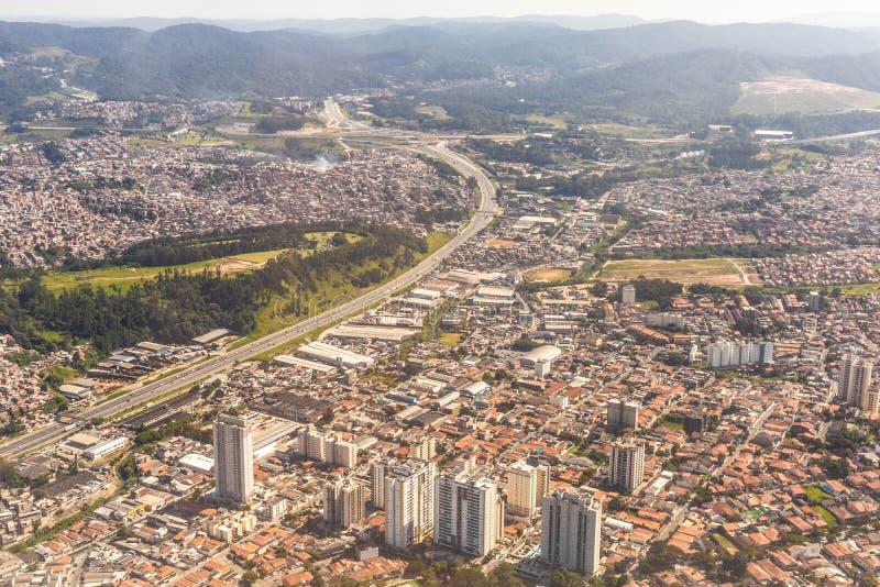 Voisinage de Guarulhos, Sao Paulo, Brésil Vue sup?rieure photos stock