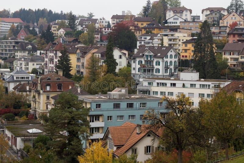 Voisinage de Lucerne photos stock