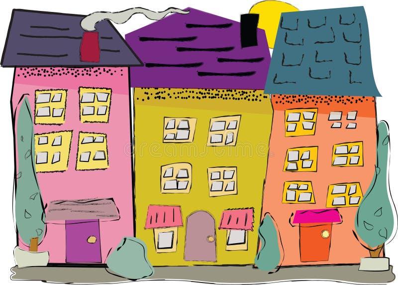 Voisinage de ville illustration de vecteur