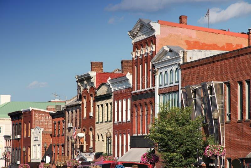 Voisinage historique de Georgetown images stock