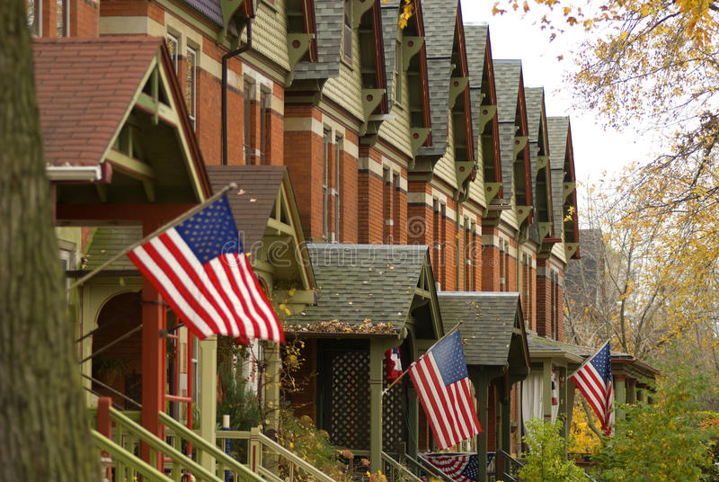 Voisinage suburbain dans le côté sud de Chicago images stock