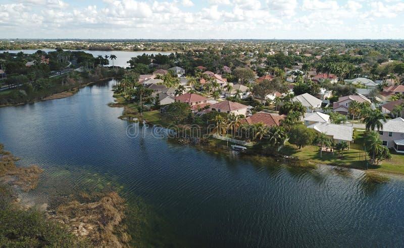 Voisinage suburbain en Floride images libres de droits