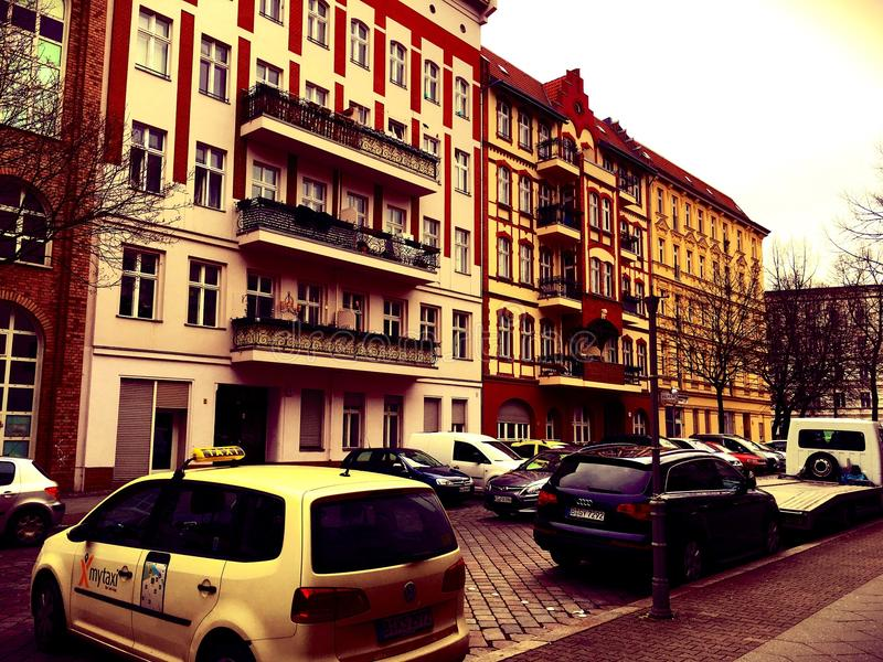 Voisinages résidentiels à Berlin, Allemagne photographie stock