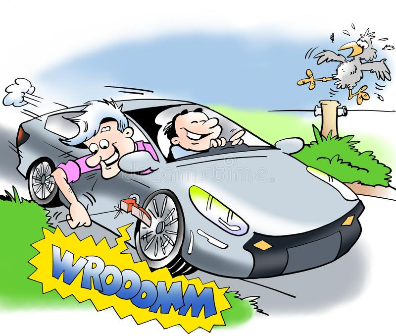 voiture lectrique avec le bruit illustration stock illustration du route pneus 58399910. Black Bedroom Furniture Sets. Home Design Ideas