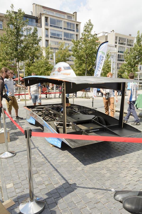 Voiture actionnée solaire Anvers photographie stock