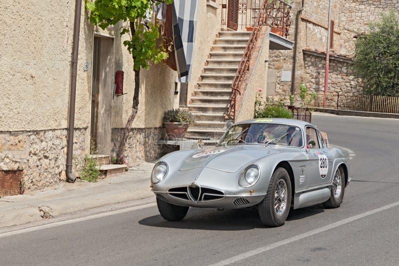 Voiture Alfa Romeo de concept de vintage Sportiva 2000 photographie stock libre de droits