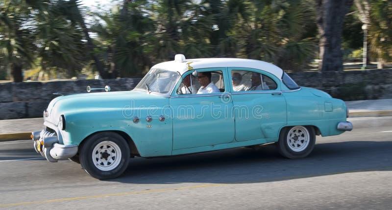 Voiture américaine classique de taxi de vintage, Cuba photo libre de droits