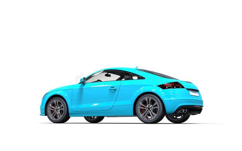 voiture bleue lumineuse sur le fond blanc image stock image du luxe avant 41821541. Black Bedroom Furniture Sets. Home Design Ideas