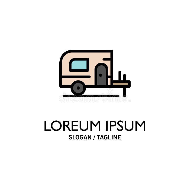 Voiture, camp, affaires Logo Template de ressort couleur plate illustration de vecteur