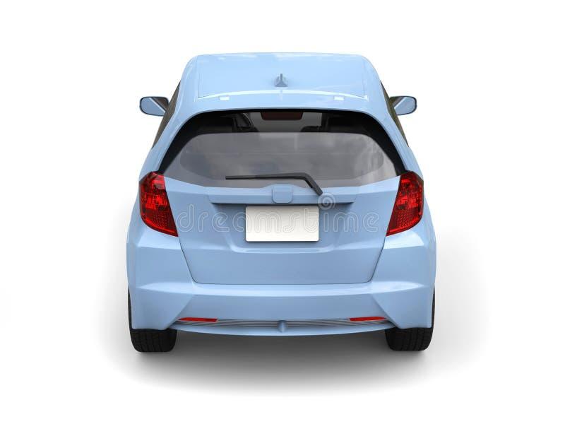 Voiture compacte moderne bleue lumineuse - vue arrière illustration libre de droits