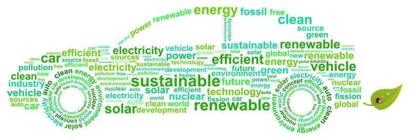 Voiture d'énergie propre illustration libre de droits