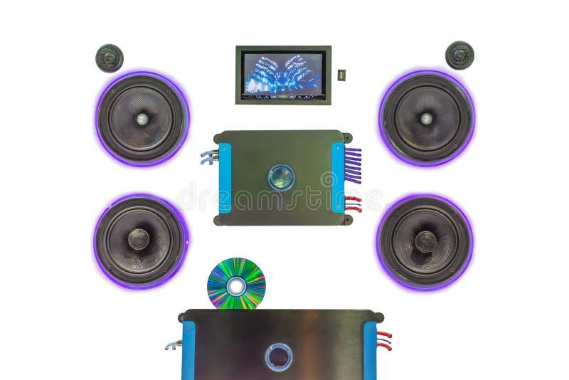 Voiture d'équipement audio photo libre de droits