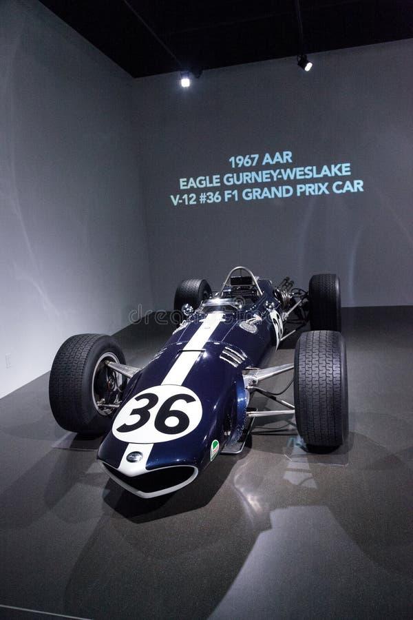 Voiture 1967 d'AAR Eagle Gurney-Weslake V-12 Grand prix photos libres de droits