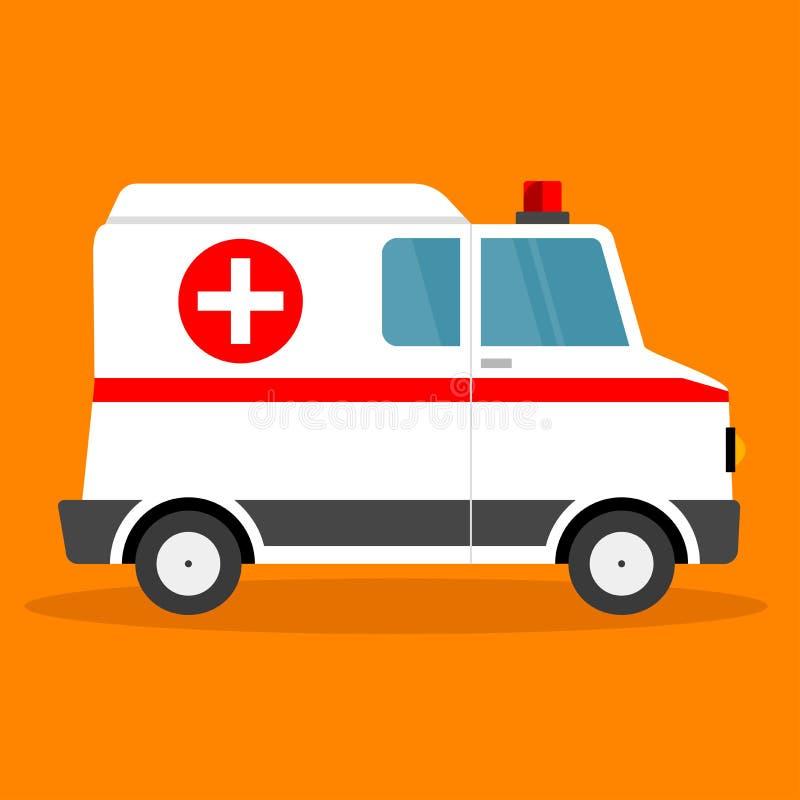 Voiture d'ambulance d'illustration de vecteur illustration stock