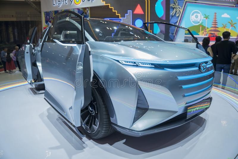Voiture d'amusement de Daihatsu HY montrée dans GIIAS 2019 images stock