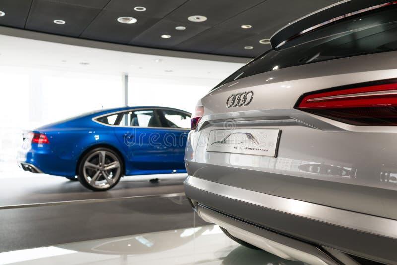 Voiture d'Audi à vendre photographie stock
