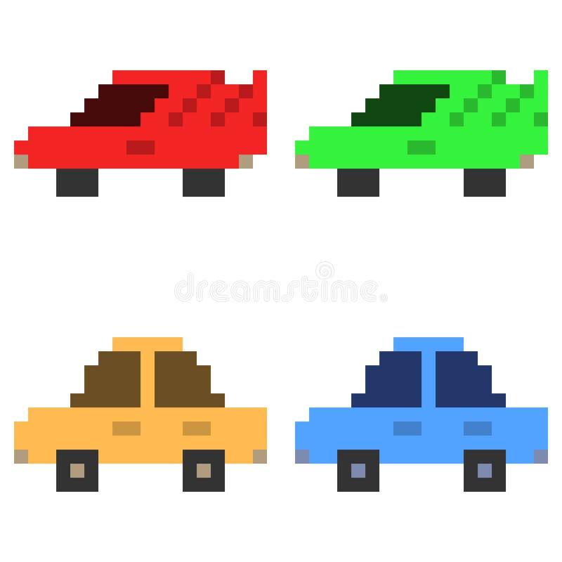 Voiture d'icône d'art de pixel d'illustration illustration libre de droits