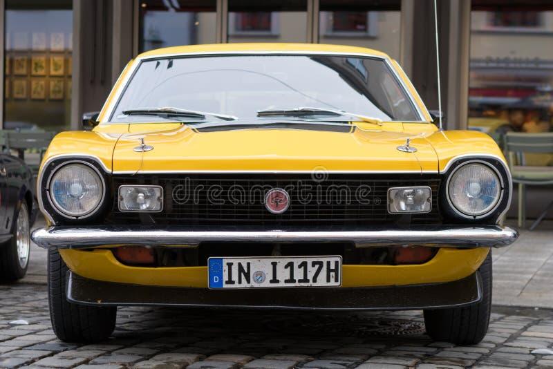 Voiture 1974 d'oldtimer de Ford Maverick GT au classique 20 de Fuggerstadt photo libre de droits