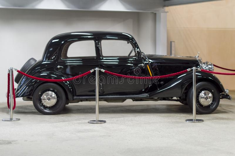 Voiture d'Opel Olympia, noire Russie photo stock