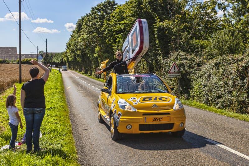 Voiture De BIC Pendant Le Tour De France De Le Photo stock éditorial