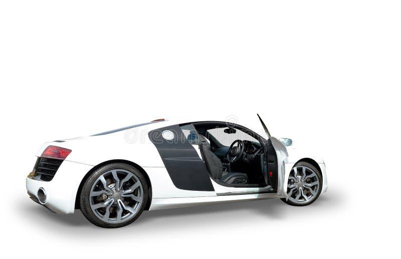 Voiture de blanc d'Audi R8 image libre de droits