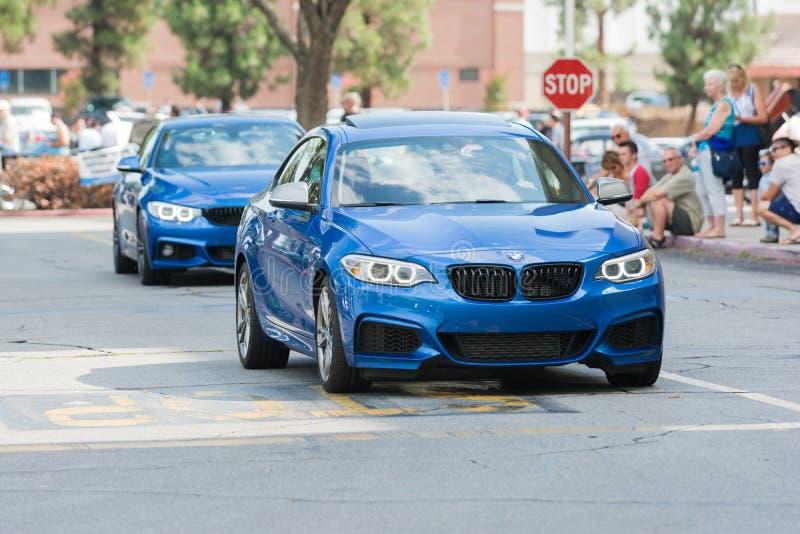 Voiture de BMW M3 sur l'affichage photographie stock