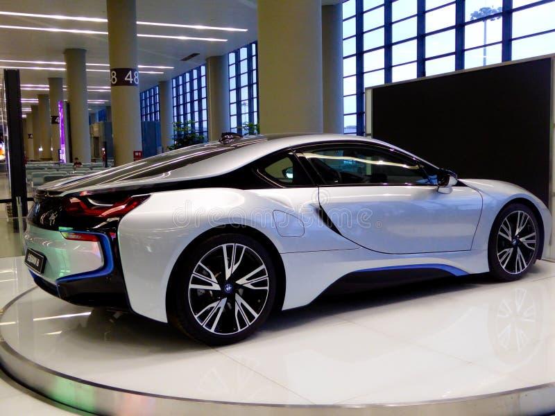 Voiture de BMW sur l'affichage image stock